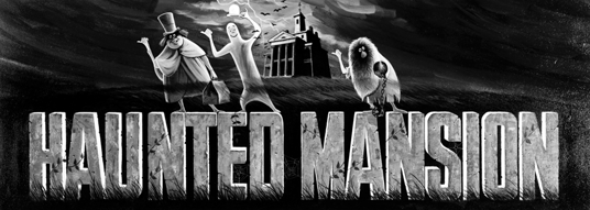 illustrated title art for Haunted Mansion