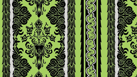 Haunted Mansion Stripes Pattern resembling snakes