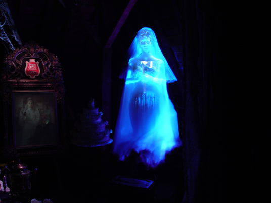 photo of a ghostly apparition in the form of a ill-fated bride