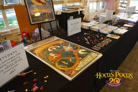 An original limited-edition (300) Gicleé, illustrated by renowned film designer Miles Teves, was created exclusively for the event, along with other <em>Hocus Pocus</em> merchandise.