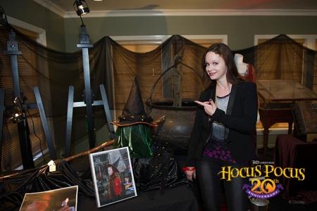 Actress Thora Birch is shocked to see her trick-or-treater costume hat that she wore in the film.