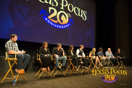 The cast and crew reunited on the Disney Studio Lot, where they filmed many scenes for the movie on Soundstage 2.