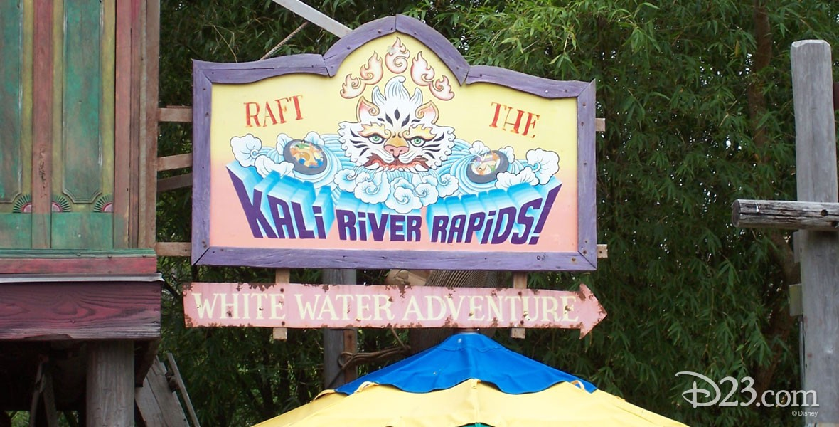 Kali River Rapids Whitewater rafting adventure in the Asia section of Disney's Animal Kingdom at Walt Disney World