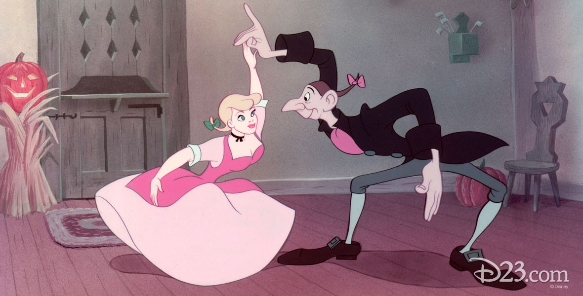 Disney characters dancing to Katrina song from The Adventures of Ichabod and Mr. Toad