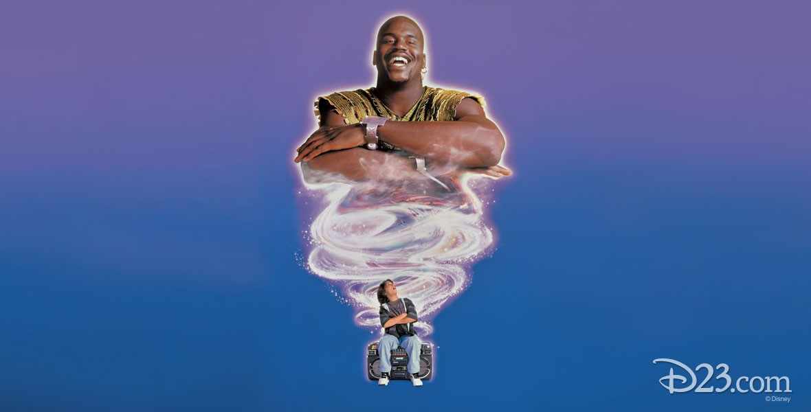Poster for Disney film Kazaam featuring Shaquille O'Neal