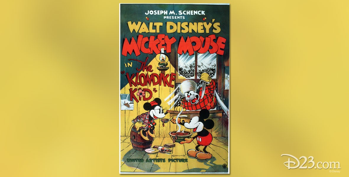 Poster for The Klondike Kid Mickey Mouse cartoon