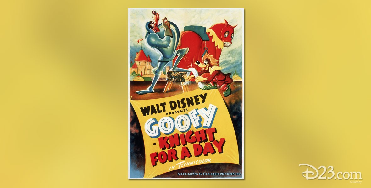 Poster for a Knight for a Day Goofy cartoon