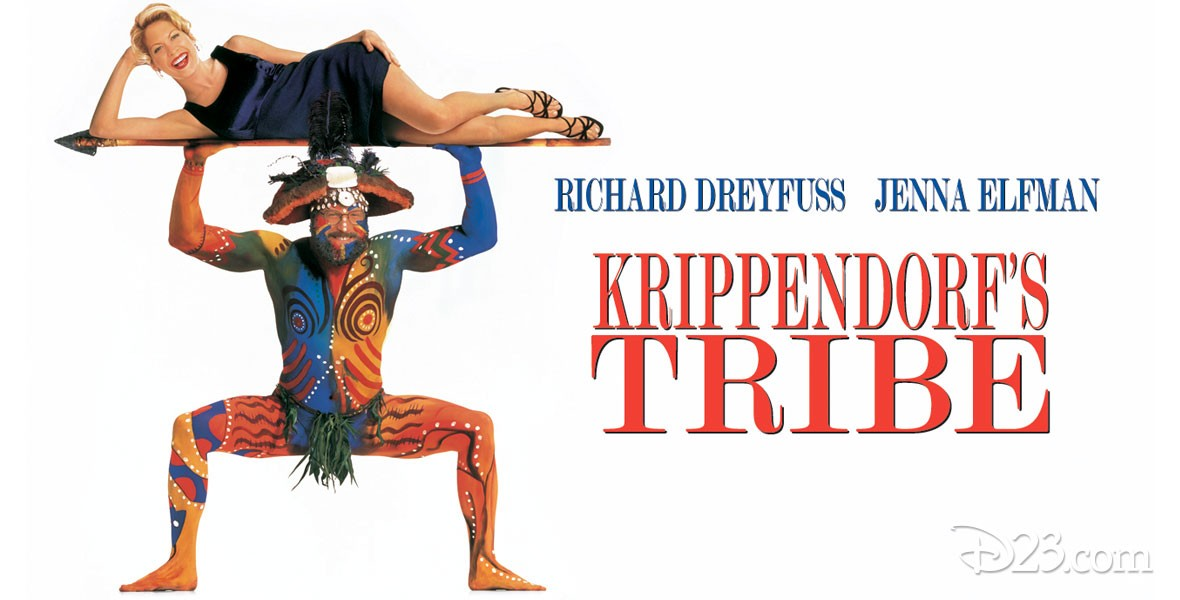 Poster for Krippendorf's Tribe featuring Richard Dreyfuss and Jenna Elfman