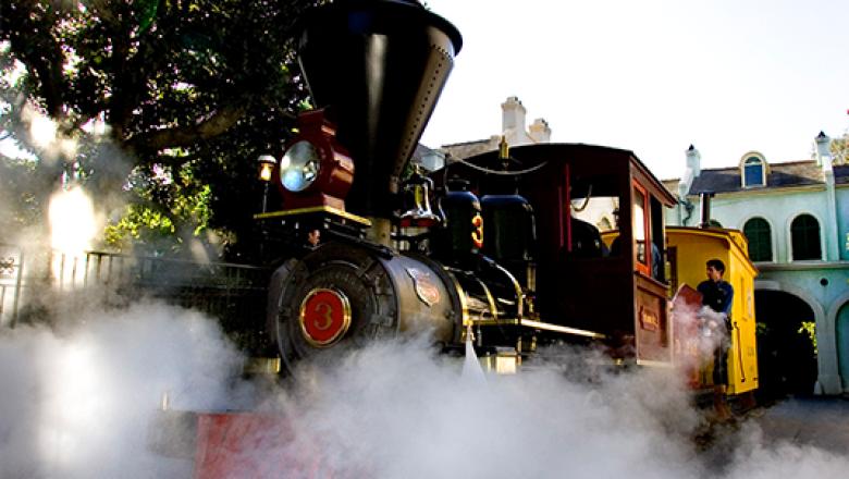 Ollie Johnston's Marie E. steam train