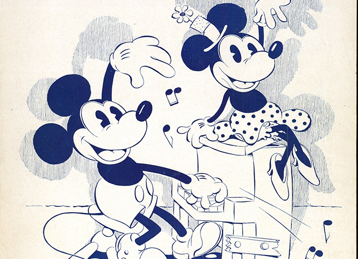 Mickey and Minnie Mouse Dancing