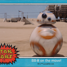 Star Wars BB-8, the adorable rolling droid