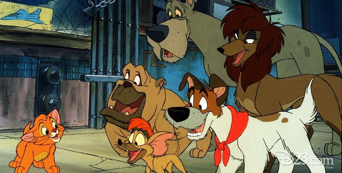 Photo of animated characters from Disney film Oliver and Company