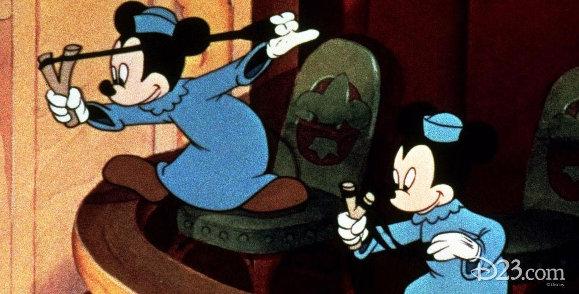 Photo of Mickey's Nephews in Disney Film Orphan's Benefit