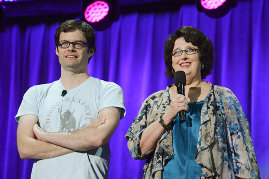 Bill Hader and Phyllis Smith