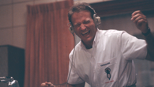 Photo of Robin Williams in Good Morning Vietnam