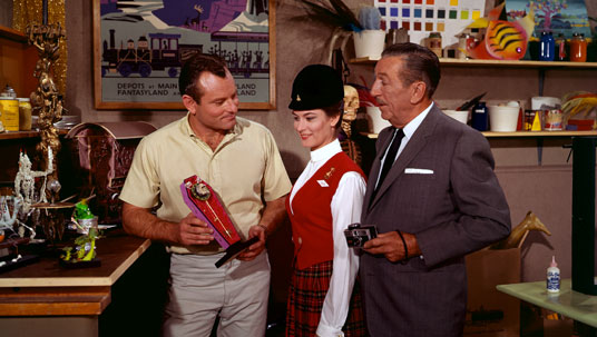 Disney Legend Rolly Crump working with Walt Disney