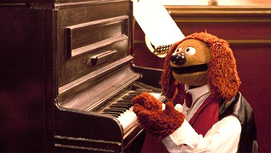 Rowlf the Muppet Dog playing piano