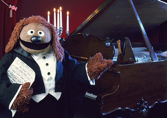 Rowlf is founder and president of the OMD (Organization of Muppet Dogs)
