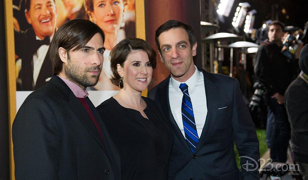 Saving Mr. Banks Premiere at Walt Disney Studios -- B.J. Novak, Jason Schwartzman and Melanie Paxson