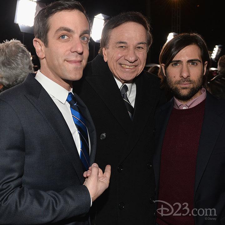 Saving Mr. Banks Premiere at Walt Disney Studios -- One of the Sherman Brothers with B.J. Novak and Jason Schwartzman