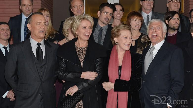 Tom Hanks, Emma Thompson, Julie Andrews, and Dick Van Dyke, plus the cast and crew of the new Poppins-inspired film, attend a practically perfect premiere at The Walt Disney Studios.