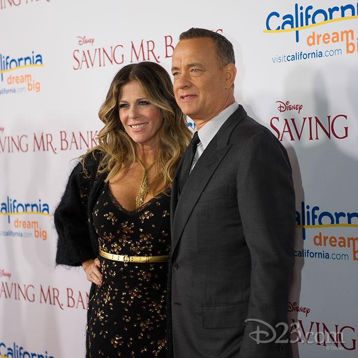 Saving Mr. Banks Premiere at Walt Disney Studios -- Tom Hanks and Rita Wilson