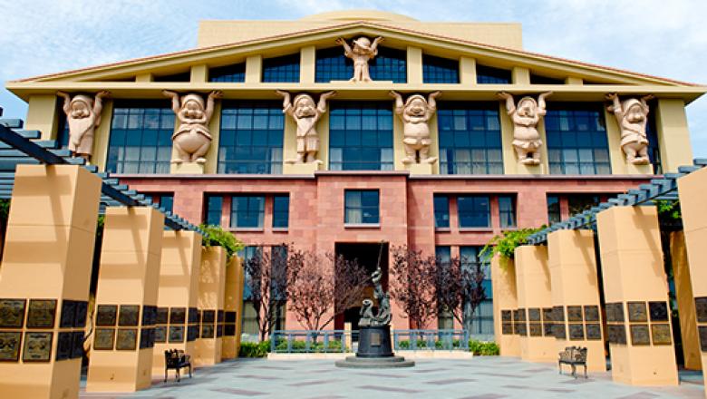 Answer: Disney (first pic - Disney HQ)