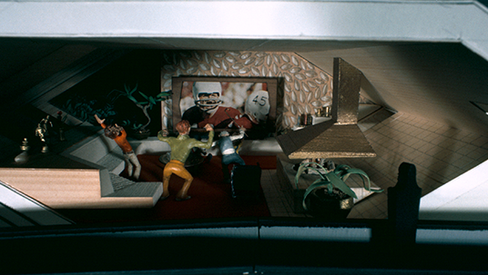 Space Mountain model of futuristic living room