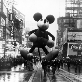 Mickey Mouse balloon in the Macy's Santa Claus Parade