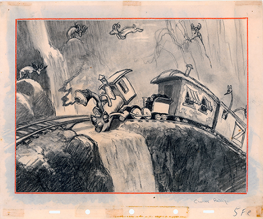 Casey Jr. story sketch from Dumbo.