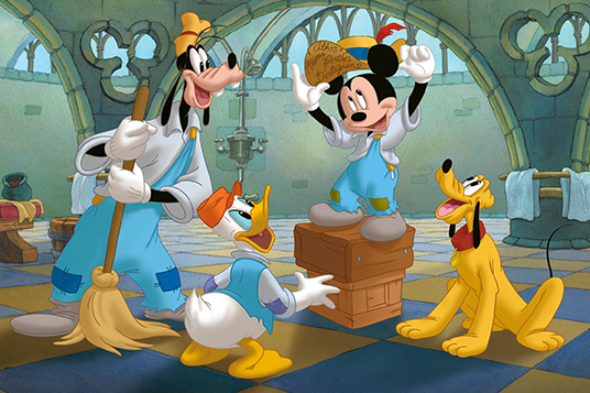 Mickey, Donald, Pluto and Goofy: The Three Musketeers