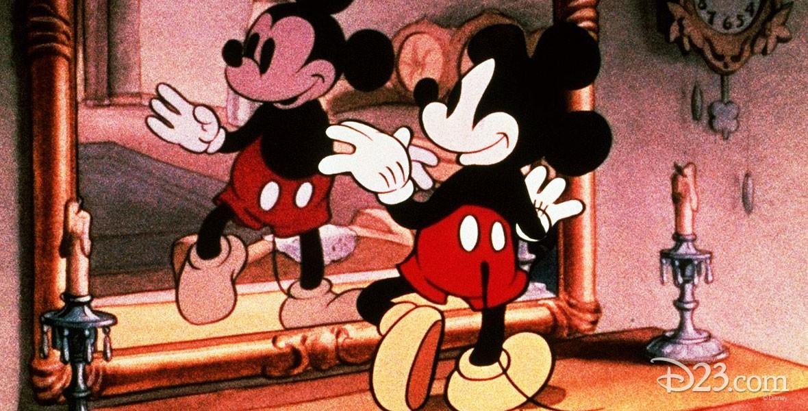 Thru the Mirror (film) Mickey Mouse Cartoon