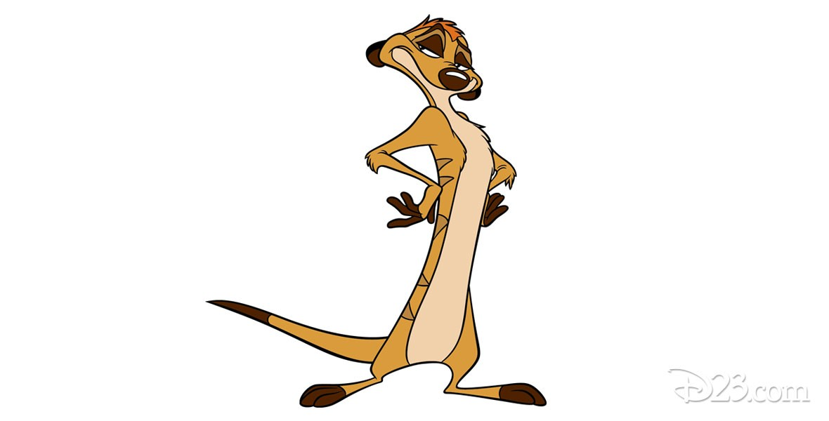 Timon, the wisecracking meerkat in The Lion King