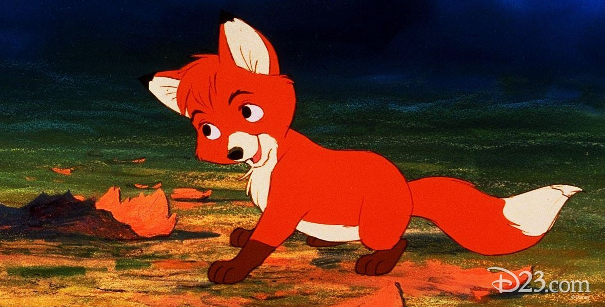 Photo of Tod the Lead fox character in Disney Film The Fox and the Hound