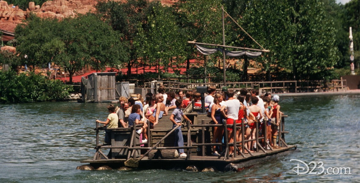 Photo of Tom Sawyer Island Rafts Frontierland attraction in Magic Kingdom Park at Walt Disney World