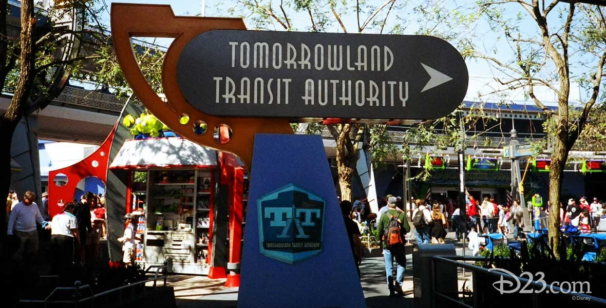 Tomorrowland Transit Authority Attraction in Magic Kingdom Park at Walt Disney World (1994)