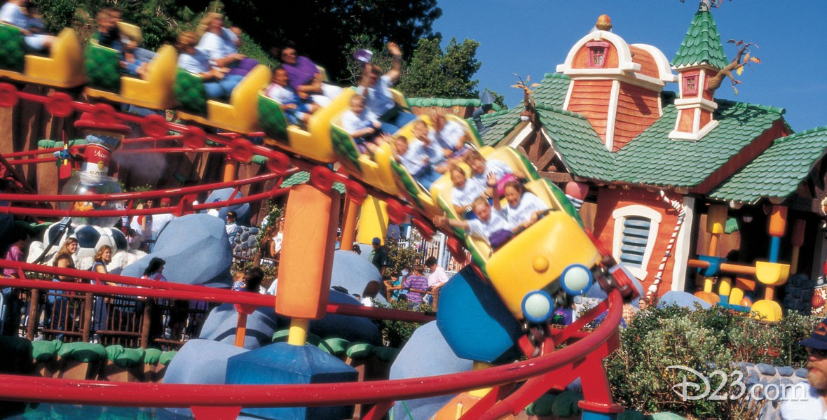 Photo of rollercoaster in Toontown Residence of characters in Who Framed Roger Rabbit.