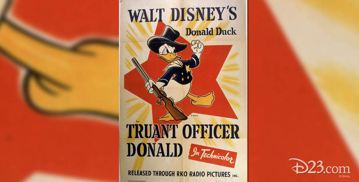 Poster of Truant Officer Donald Duck cartoon