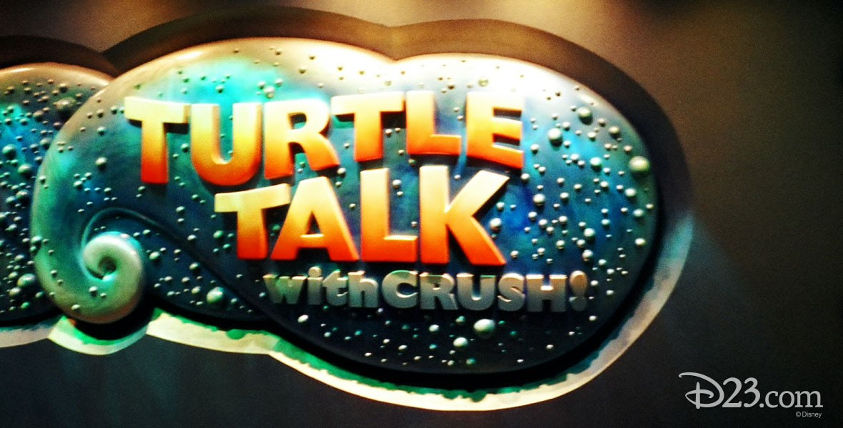 Turtle Talk with Crush Attraction within The Living Seas at Epcot
