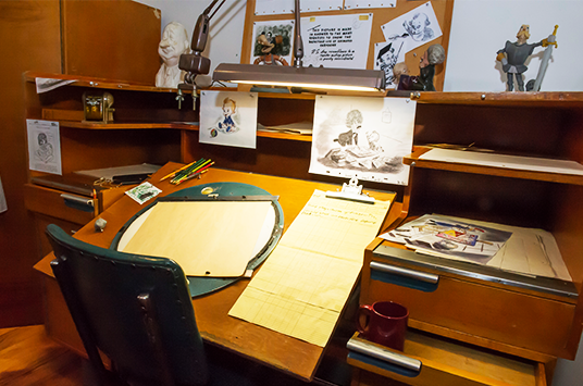 Animators Desk from the Walt Disney Archives