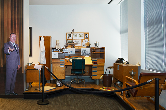 Animators Desk in the Walt Disney Studio Archives