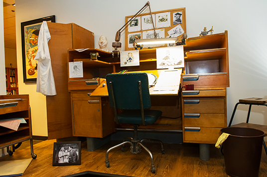 Animators Desk in Walt Disney Studios