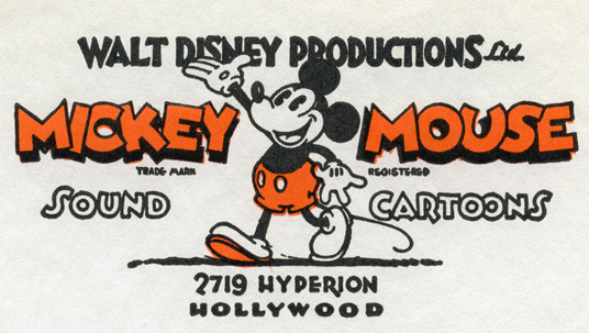 Walt Disney incorporated in 1929 and named the company Walt Disney Productions, which is reflected in the new logo