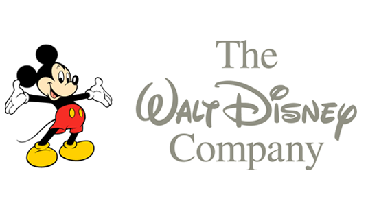 Modern version of Mickey Mouse the Walt Disney Company logo
