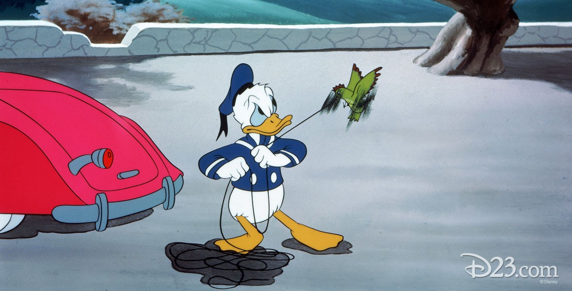 Photo from Disney's Wet Paint Donald Duck cartoon