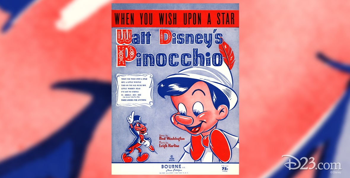 Album cover for When You Wish Upon a Star Song from Pinocchio