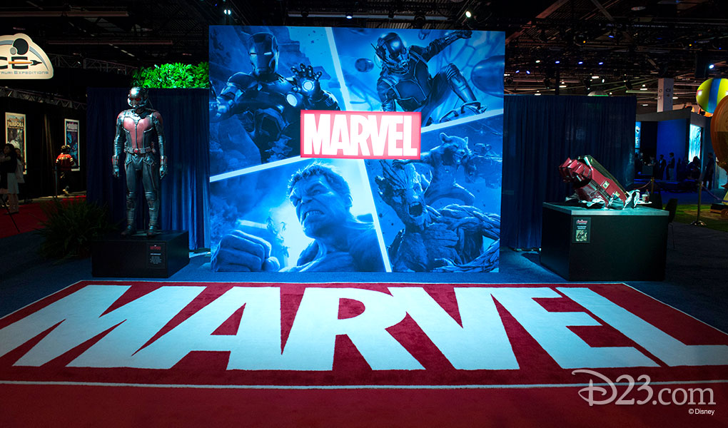 photo of Marvel Exhibit Entrance at D23 EXPO 2015