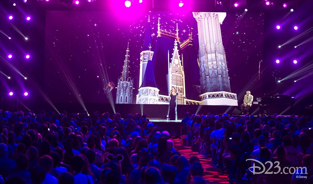 photo of Singer Ashley Brown and Richard Sherman at Disney Legends Awards 2015