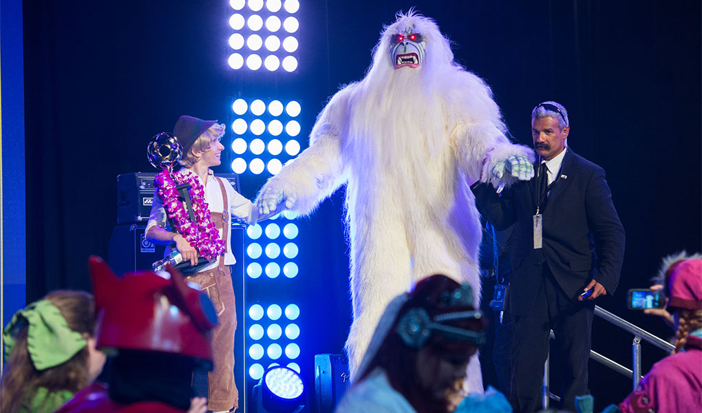 Yeti Costume Winner from D23 EXPO 2015 Mousequerade Contest