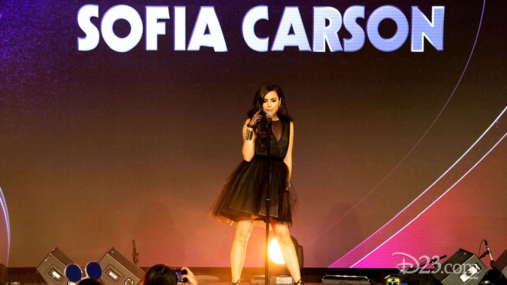 SOFIA CARSON Performing at D23 EXPO 2015